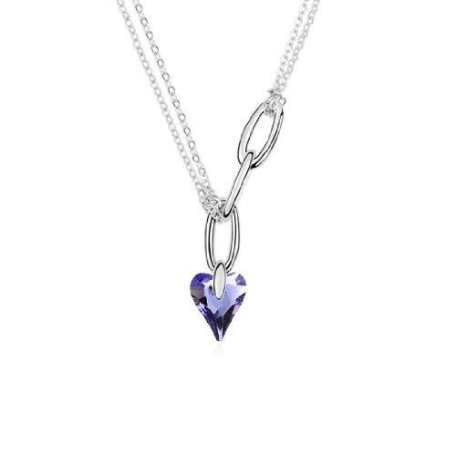 Boxingcat Fine Jewelry Swarovski Style Clear Austrian Crystal Pendant Necklaces Bgca9431 front-268679