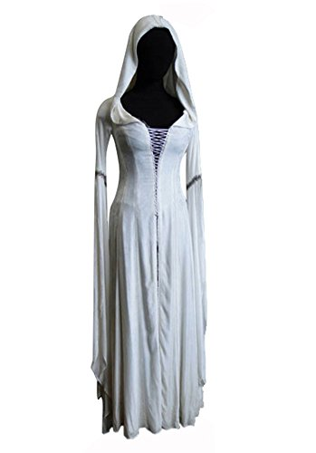 [Irisbakerloy Legend of the Seeker Kahlan Amnell Confessor Dress Costume XSmall] (Confessor Costume)