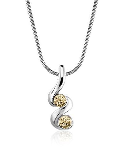 Absolute Crystals Conjunto de cadena y colgante 2S Mini Xillion Dorado