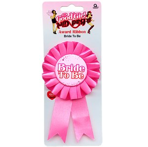 partyhut Hen Night Good Girl / Bad Girl Bride To Be Award Ribbon