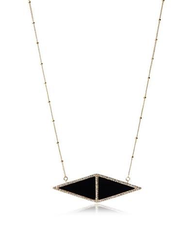Melanie Auld Black Onyx Double Triangle Necklace