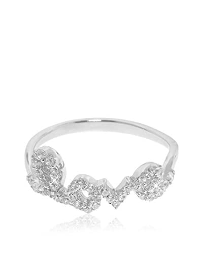Diamonere Sterling Silver Pavé Love Ring