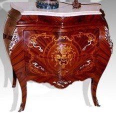 De estilo barroco y cómoda de Luis XV estilo envejecido MoKm01832 chapa brillante como engánchate 1549Glas de mármol de colour blanco