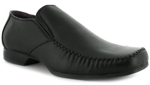 Mens/Gents Black Slip On Business Class Formal Shoes - Black - UK 10
