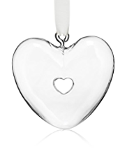 Glass Heart Hanging