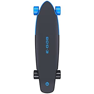 Yuneec E-GO2 Electric Longboard Skateboard, Royal Wave Blue
