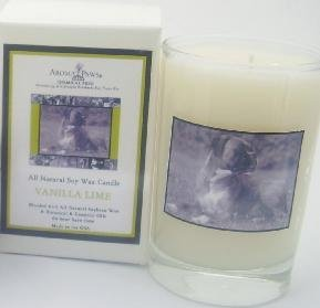 Aroma Paws 229 - Breed Candle Glass Gift Box - Boxer - Vanilla Lime - 5 Oz
