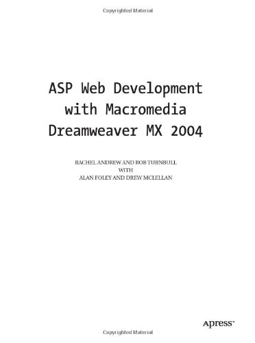 ASP Web Development with Macromedia Dreamweaver MX 2004
