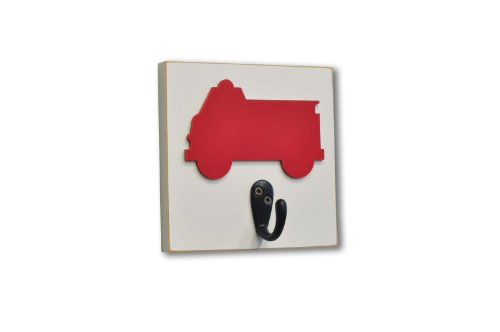 Homeworks Etc Firetruck Single Wall Hook, Red front-743444