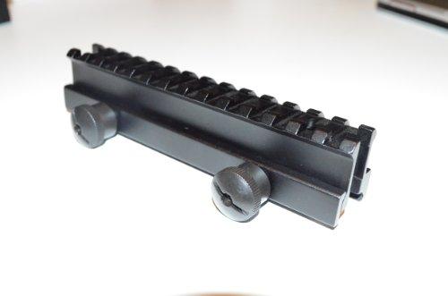 Cheapest Price! Acid Tactical 1 See-Through Riser AR15 M4 High Top Rail Scope Mount - Full Length H...