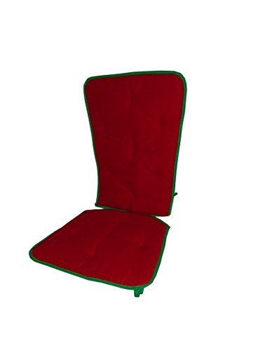 Baby Doll Holiday Solid Reversible Rocking Chair Pad, Red/Green