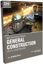 BNI General Construction Costbook 2013 - BNI Publications - BN-Construction - ISBN: 1557017611 - ISBN-13: 9781557017611