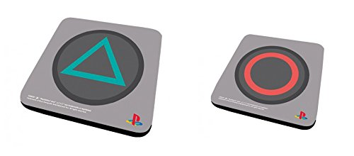 Set Di 2 Sottobicchieri: Playstation - Triangle + Circle (9x9 cm)