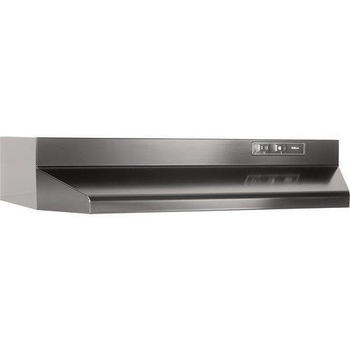 Broan F403623 Economy 36-Inch Four-way Convertible Under-Cabinet Mount Range Hood, Black image