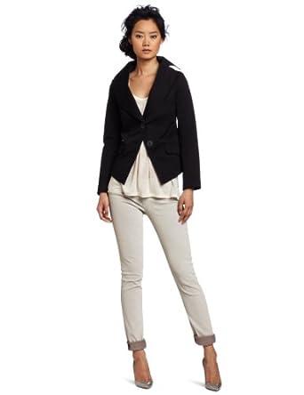 Vivienne Westwood Anglomania Women's Jabot Cross Jacket, Black, EU 40/ US 2/4