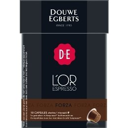Buy Douwe Egberts L'OR Espresso Forza, 10 Capsules, Nespresso compatible by Douwe Egberts