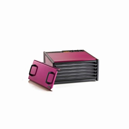 Excalibur EXCD500RR 5-Tray Dehydrator, 26 Hour Timer, 440 Watts, Radiant Raspberry