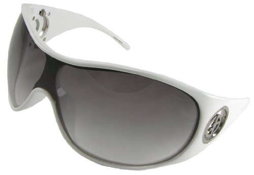 Giorgio Armani Sunglasses, 340/S, Shield, Polar White Frame/ Grey Fade Lenses