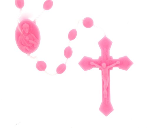 Pink Rosary - 17'' in Length