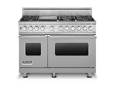 "Viking Vdsc5486Gss - Stainless Steel 48""Custom Sealed Burner Dual Fuel Range - Vdsc (48""Wide, Six Burners 12""Wide Griddle/Simmer Plate)"