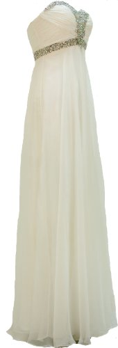 Chiffon Sweetheart Strapless Homecoming Offwhite