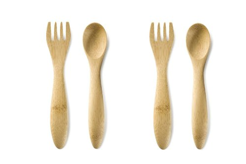 Bambu 5-Inch Baby's Utensils, Set of 4, Natural