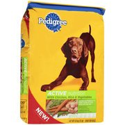 Pedigree Active Nutrition Dog Food with Chicken, Rice & Vegetables, 15 lbs(Pack of 3)