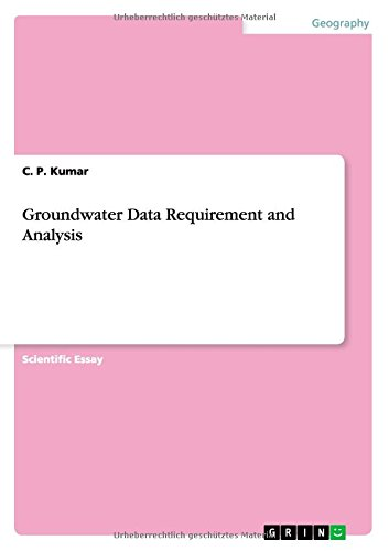 Groundwater Data Requirement and Analysis