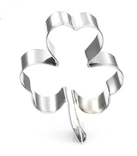 CXFashion Stainless Steel Cookie Cutter for Kids, Biscuit Cutter, Mousse Cake Mold Pan Cake Pastry Decoration Baking Tool - Shamrock Shape (Shamrock Cake Pan compare prices)