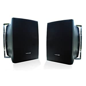 Acoustic Audio AW525B Indoor/Outdoor Speakers (Black, 2)