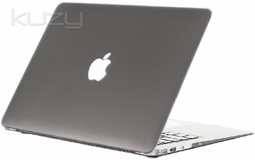 Kuzy - AIR 13-inch GRAY Rubberized Hard Case Cover SeeThru for Apple MacBook Air 13.3-inch (A1369 and A1466) - Gray