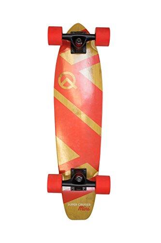 Quest Skateboards Quest Super Cruiser MINI Cruiser Skateboard, Red, 27