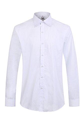 100% cotone manica lunga lavoro tempo libero formale Camicie Bianco
