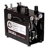 Iwata-Medea Studio Series Power Jet Pro Double Piston Air Compressor (Color: White)