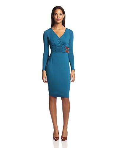 Nue by Shani Women's Surplice Jersey Dress