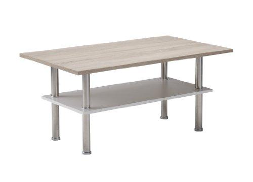 Presto mobilia 11638 Couchtisch Wohnzimmertisch Beistelltisch Tisch Kaja 29 95x55x45 cm Sonoma Eiche hell Weiß/Eiche sägerau hell Weiß