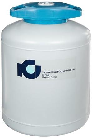 International Cryogenics LN2 Liquid Nitrogen Storage Dewar, 35 L