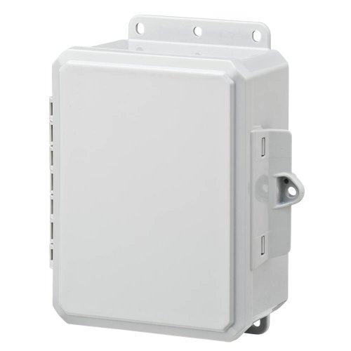 "Integra P8063Lp Impact Line Enclosure, Low Profile Hinge, Integrated Latch, Mounting Flange, 6"" Height, 6"" Width, 3"" Depth"
