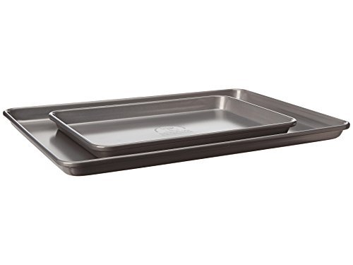 KitchenAid KBNSS95SH Professional-Grade Nonstick Quarter Sheet and Half Sheet Pans Set of 2 Bakeware