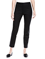 Autograph Slim Leg Cropped Trousers with Modal