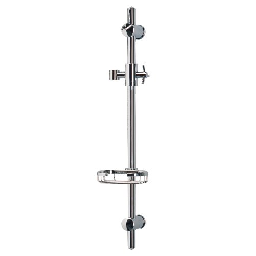 Cheapest Price! PULSE Showerspas 1010 Adjustable Slide Bar For Handshower with Wire Soap Basket