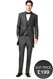 Autograph 1 Button Morning Suit with Wool
