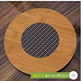 1 Unit PVC insulated Bamboo Placemat Heat pad, heat insulation pad bowl pad pot holder, anti-hot disc pad insulated bamboo Heat pad. Bamboo round heat pad, heat mat bowls, kettles coasters. Add beauty to your dining table with this Natural Bamboo Heat pad. Also Eco-friendly to protect environment.