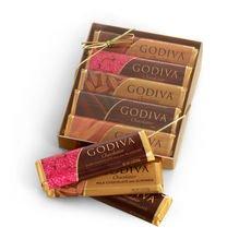 Godiva Chocolate Chocolatier Bars Dark & Milk 6 Pack Assortment (1.5-Ounces Each)