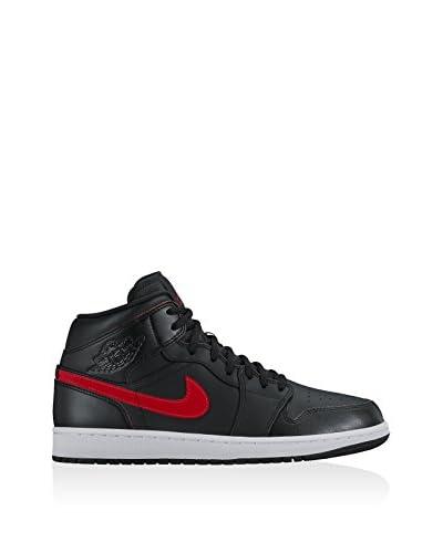 Nike Zapatillas abotinadas Air Jordan 1 Mid Premium Negro / Gris Oscuro