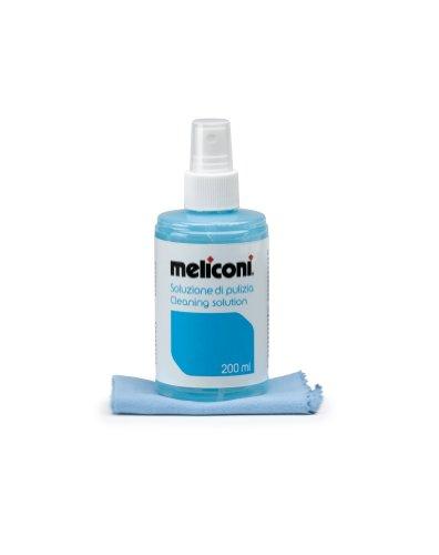 Meliconi C-200 - Soluzione Detergente 200 ml con Panno Microfibra 20 x 20 cm