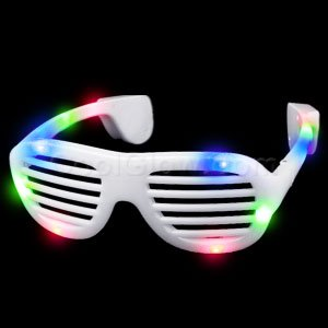 Fun Central G730 LED Light Up Supreme Slotted Shades - Rainbow