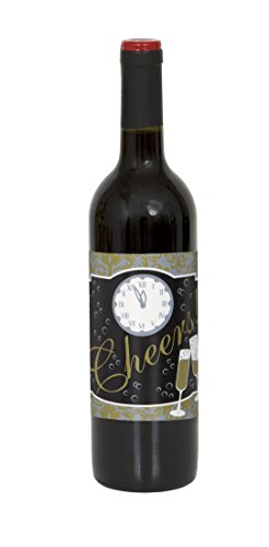 New Years Wine Bottle Labels, 4ct