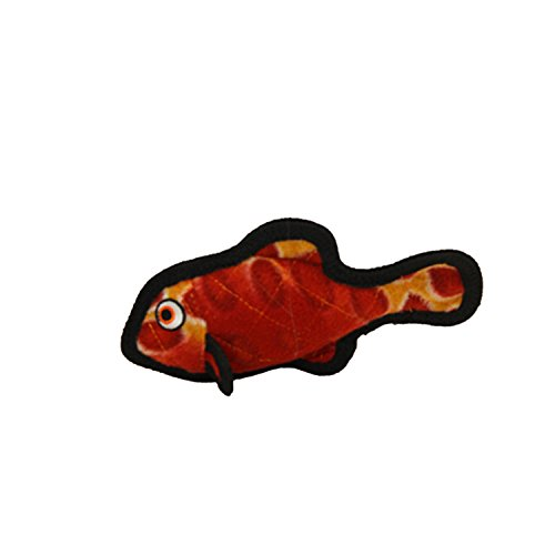 Tuffy ocean creature junior fish dog toy red animals pet for Fish dog toy