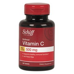 Vitamin C With Rose Hips Buffered Tablet, 100 Count